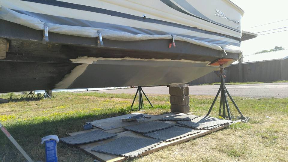 fiberglass hull work