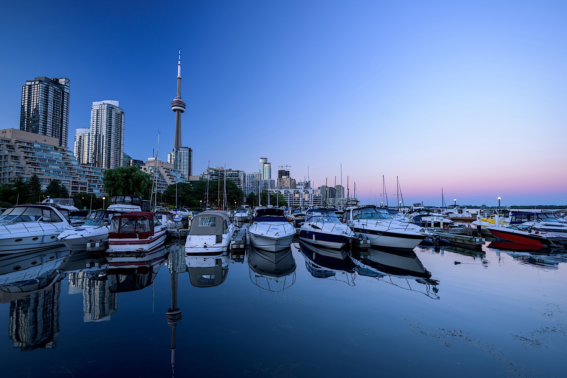 Boats in Toronto Harbor