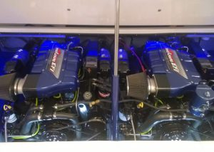 Photo of engine compartment lighting